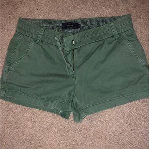 Olive Green J Crew Chino Shorts